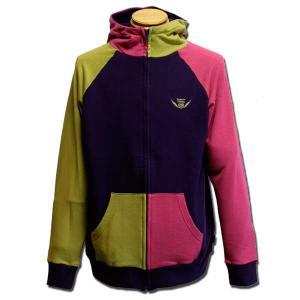 クレイジー ジップパーカー パープル one by one clothing 09Winter|bussel