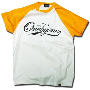 BASEBALL Tシャツ ビーズプリント ゴールド one by one clothing|bussel