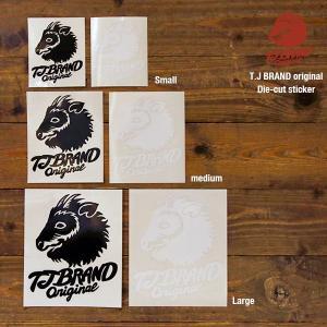 TJ BRAND ORIGINAL Die-cut Sticker Large / ティージェイブランド オリジナル ダイカットステッカー|bussel
