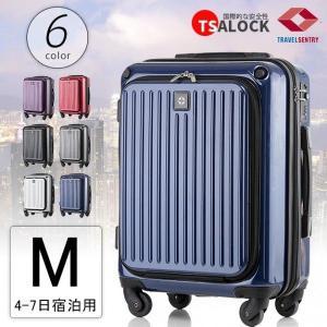 ポイント15倍 期間限定 スーツケース スーツケースハード 一年間保証 送料無料 Mサイズ TSAロック搭載 超軽量 pc1196 OUTLET