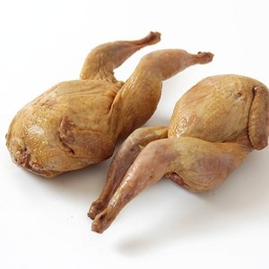 うずら丸ごと燻製(調理済)2羽入 (1羽約150〜170g×2羽)|butcher