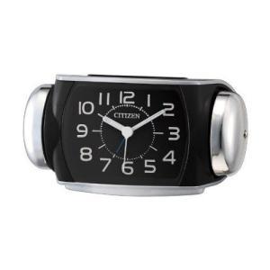 目覚まし時計 置き時計 シチズン リズム時計 大音量 バトルパワーR636 シルバーメタリック 8R...