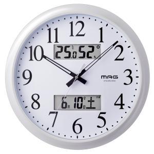 掛け時計 壁掛け時計 電波時計 温度湿度計 日付表示 ダブル...