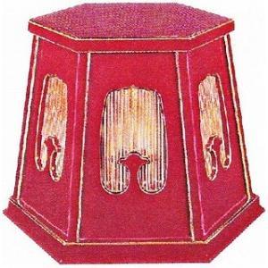 【寺院用 仏具(各宗派)】   灯篭台 六角柱型 1尺8寸  1対