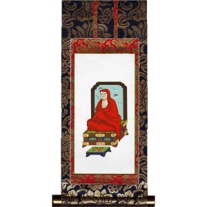仏具 新金掛け軸 掛軸 禅宗 達磨大師 150代 (脇掛右)|butsudansyokunin