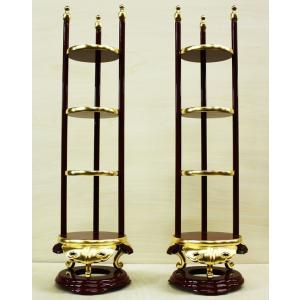 寺院 仏具 寺院用 寺院仏具 香盤型 段盛 1対 25.0寸 純金箔 セット butsudansyokunin
