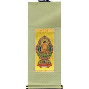 仏具 小型仏壇用 掛軸 掛け軸 曹洞宗 釈迦如来 中|butsudansyokunin