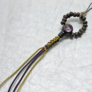 珍しい! おじゅず型ストラップ 親鸞聖人 絵入り木製数珠ストラップ 数珠 ストラップ 根付 スマホ butsuguya