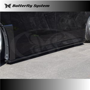ヴェルファイア アルファード 30 サイドフラップスポイラー エアロパーツ VELLFIRE Z(Z/ZA/ZR) ALPHARD S(S/SA/SR) グレード専用 GLANZ 純正塗装済商品|butterfly-system
