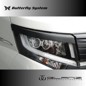 LA150S ムーヴカスタム エアロパーツ アイライン ヘッドライトカバー 【GLANZ】 塗装なし 前期|butterfly-system