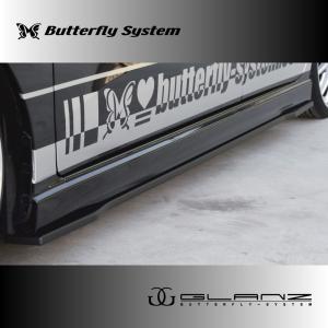 LA150S ムーヴカスタム サイドフラップ エアロパーツ 【GLANZ】 塗装なし|butterfly-system