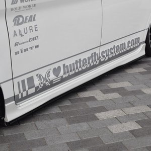 LA600S タントカスタム エアロパーツ サイドフラップ サイドステップ 【GLANZ】 塗装なし 全車|butterfly-system