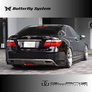 LEXUS LS460 LS600 エルエス USF40 USF41 UVF45 UVF46 エアロパーツ リアハーフスポイラー 【GLANZ】 塗装なし 前期|butterfly-system