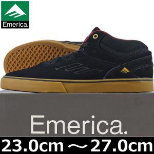 emerica エメリカ Westgate Mid Vulc Black/Gum スケシュー シューズ スニーカー スケートボード スケボー ウエストゲート butterflygarage