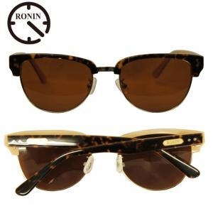Ronin Eyewear ( ロニンアイウェアー ) 50/50 ミディアム ベッコウフレーム ブ...