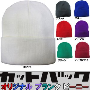 CUT BACK ( カットバック ) オリジナル ブランク ビーニー 縦目すっきりタイプ ( 7カラー ) ( スケートボード スケボー 帽子 ニット帽 )|butterflygarage