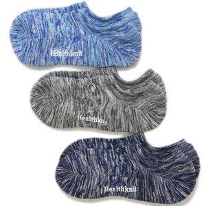 Healthknit ヘルスニット スラブ ショートソックス 3足セット 25-27cm 靴下 メンズ レディース アンクレット|butterflygarage