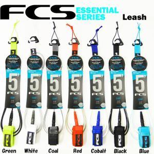 FCS エフシーエス エフシーエス リーシュコード パワーコード サーフィン  FCS ESSENTIAL SERIES Leash 5' COMP COMP 5.5mm WAVE 0-4ft|butterflygarage