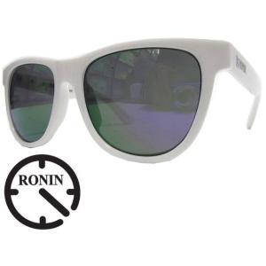 Ronin Eyewear ( ロニンアイウェアー ) The Curse シャインホワイト×パープルレボポーラ ( スケートボード スケボー サーフィン ステッカー サングラス ロニン|butterflygarage