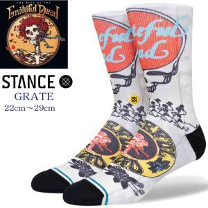 スタンス ソックス  Stance Socks 靴下 Grateful Steal Your Faceメンズ L 25.5-29.0cm  メンズ ファッション 小物|butterflygarage