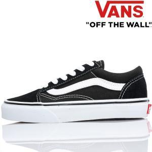 Vans バンズ キッズ スニーカー Kids Old Skool Black / True White 18.5-22cm オールドスクール ヴァンズ 子供 靴 シューズ|butterflygarage