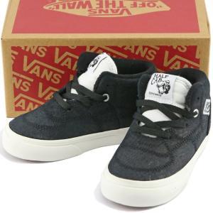 VANS バンズ Kids Half Cab Snake Black/Blanc ヴァンズ ハーフキャブ スニーカー 靴 シューズ キッズ 子供|butterflygarage