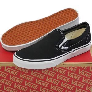 VANS バンズ ヴァンズ Classic Slip-On Black 23-30cm スケートボード スケボー クラシック スリッポン キャンバス USA企画 シューズ スニーカー 靴 メンズ レデ|butterflygarage