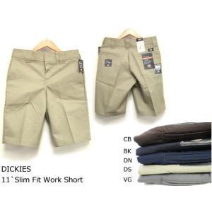 ( 即納 ) DICKIES ( ディッキーズ ) 11`Regular Fit Work Short ( レギュラーフィット ストレッチ ハーフパンツ ワークショーツ )|butterflygarage