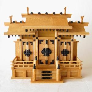 神棚 新欅屋根違い三社(小)|butudan