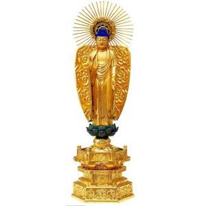仏像 浄土真宗本願寺派 阿弥陀如来 4.5寸中七肌粉|butudan