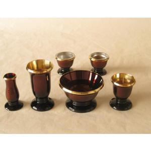 モダン仏具セット ゆうがを30 ワイン色|butudan