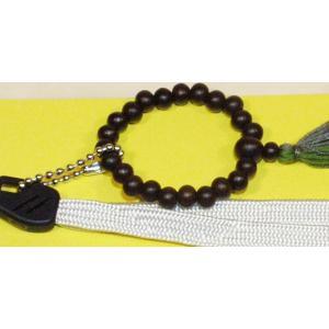 携帯ストラップ数珠縞黒丹|butudan