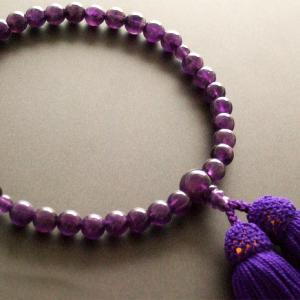 女性用一輪数珠(念珠) 紫水晶紫色房|butudan