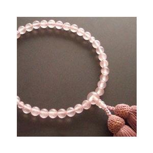 女性用一輪数珠(念珠) 紅水晶深蘇芳房|butudan
