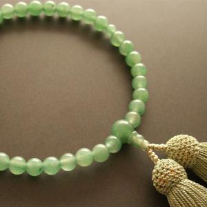 女性用一輪数珠(念珠) アベンチリン鶯色房|butudan