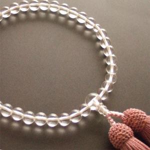 女性用一輪数珠(念珠) 本水晶深蘇芳色房|butudan