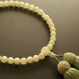 女性用一輪数珠(念珠) グリーンオニキス鶯色房|butudan