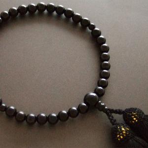 女性用一輪数珠(念珠) 黒オニキス黒色房|butudan