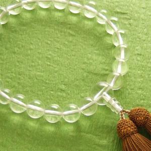 男性用一輪数珠(念珠) 本水晶浜梨色房|butudan
