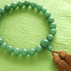 男性用一輪数珠(念珠) アベンチリン浜梨色房|butudan