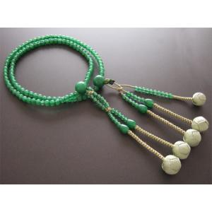 日蓮宗・法華宗用数珠 八寸 アベンチリン 共仕立 鶯梵天|butudan