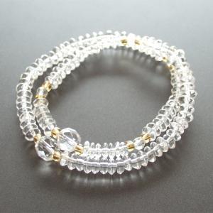 腕輪数珠(念珠) 水晶108玉 水晶切子仕立|butudan