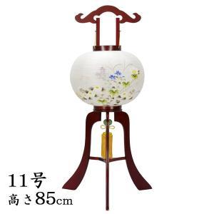 お盆提灯・小型行灯・木製ワイン塗11号・絹二重・風鎮付|butudan