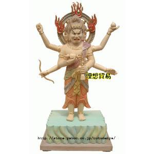 三宝荒神仏像 淡彩切金総桧 30センチ|butudanya
