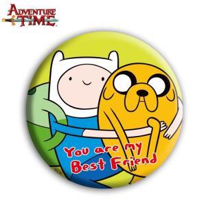 アドベンチャー・タイム 缶バッチ/フィン&ジェイク/75mm/ Adventure Time|buyersnetclub
