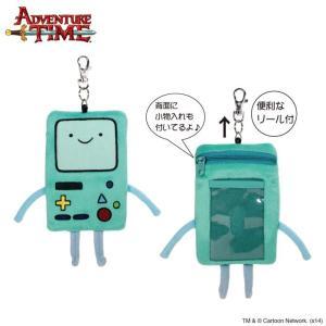 アドベンチャー・タイム ぬいぐるみパスケース ビーモ/BMO/ Adventure Time|buyersnetclub