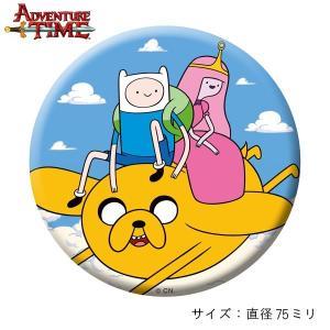 アドベンチャー・タイム 缶バッジ/フライングデート/75mm/ Adventure Time|buyersnetclub