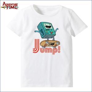 アドベンチャー・タイム Tシャツ ビーモ(ジャンプ・ホワイト)  レディース(M) Adventure Time|buyersnetclub