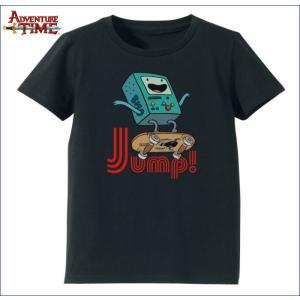 アドベンチャー・タイム Tシャツ ビーモ(ジャンプ・ブラック)  レディース(M) Adventure Time|buyersnetclub