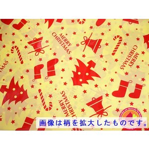 クリスマス・ビニールラッピング大 57×90cm/資材購入もOK|buyersnetclub